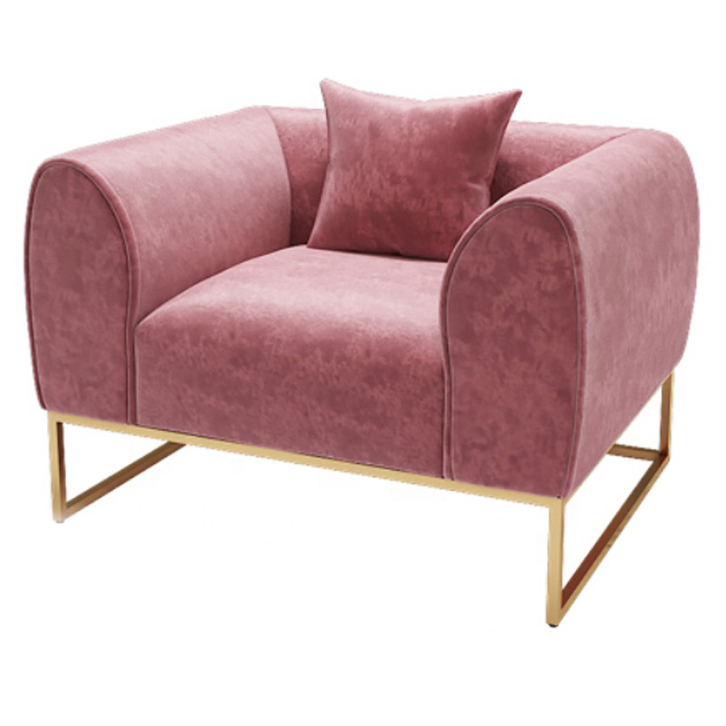 custom modern 2 seater 3 piece furniture pink chesterfield velvet sofa set