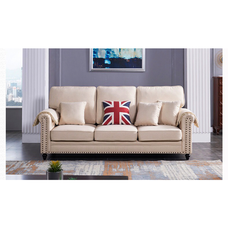 modern design italian vintage luxury classic european low back hall sectional white sofa set