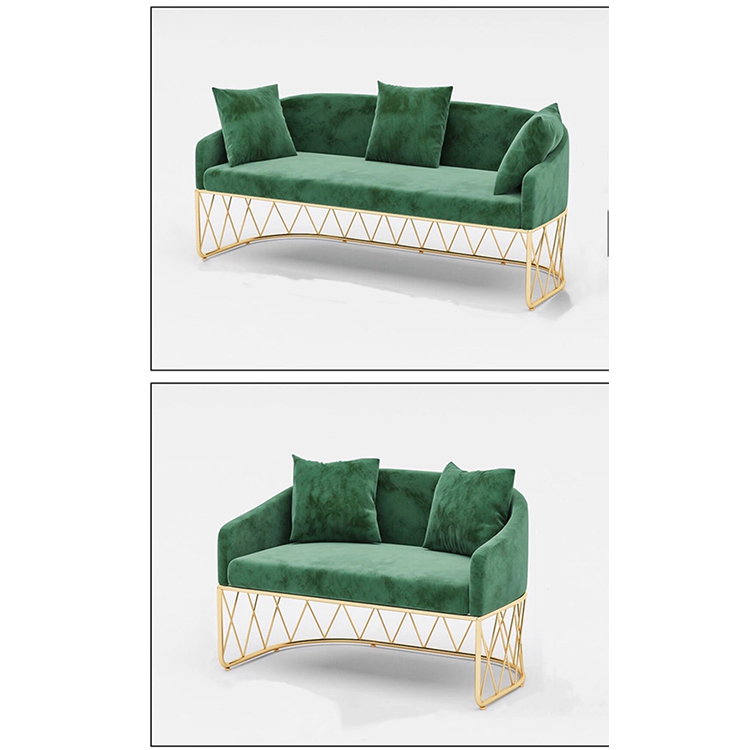 custom cheap modern living room furniture high back velvet couch recliner single sofas sets with metal legs