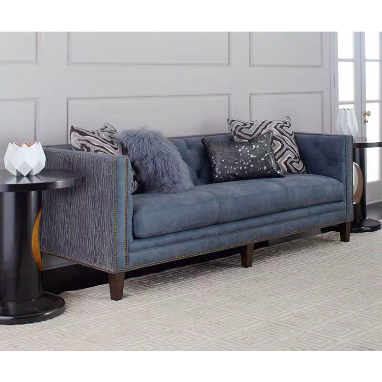 Royal style high quality morden printed luxury leather furniture corner sectional sofa set
