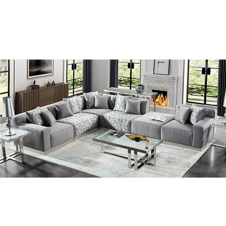 new product modern style contemporary furniture gray fabric recliner sofa mechanism
