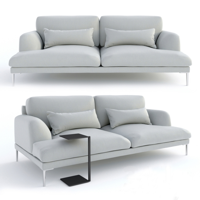 Custom Furniture House Luxury Gray Living Room Modern Fabric Sofa 7 2 seater