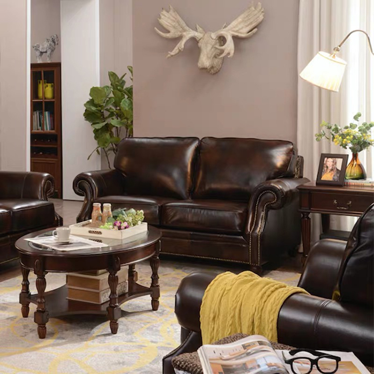 custom morden office 3 2 seater brown couches living room sectional furniture luxury leather sofa set three