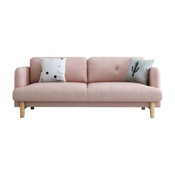 custom modern nordic style wood frame fabric couch living room sofa 2 seater
