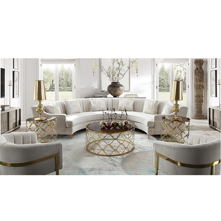 custom coffee restaurant round white velvet waiting couch sofa dining chair for salonliving room