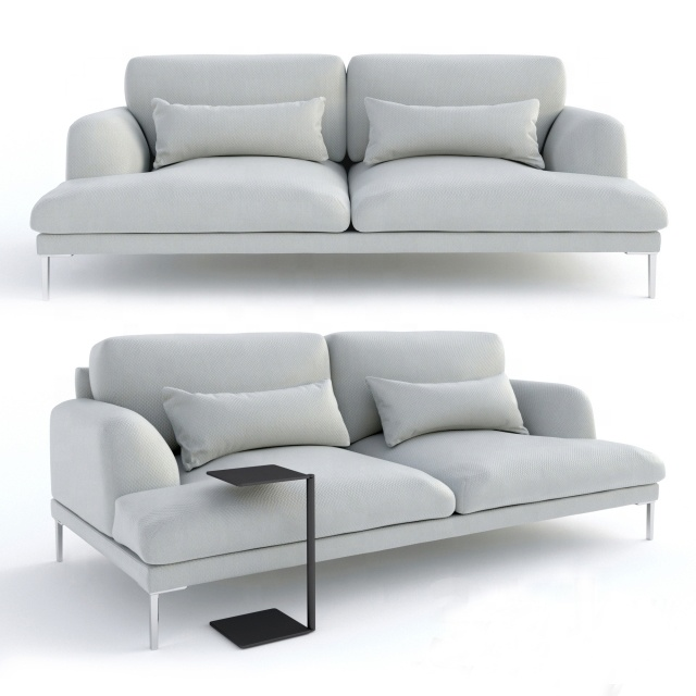 custom designs l shaped modern lounge furniture sofa 2 seater with fabric for living room