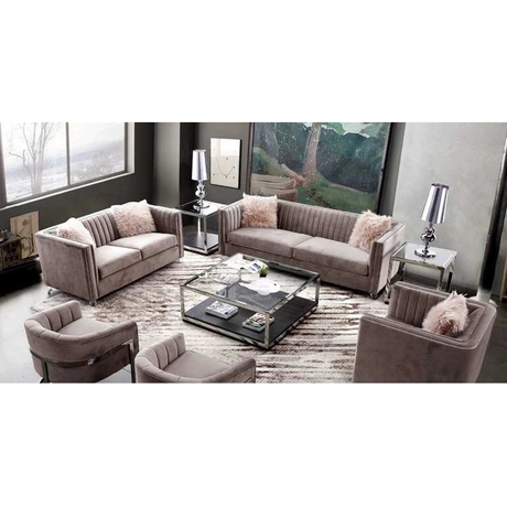 custom modern 3-piece living room crushed pink velvet couch restaurant booth recliner sofa set