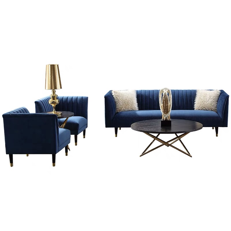 custom 7 3 seater modern living room sofa set luxury couch with metal legs