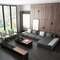Germany modern soft comfortable luxury villa living room large sectional corner l shape sofa for reception