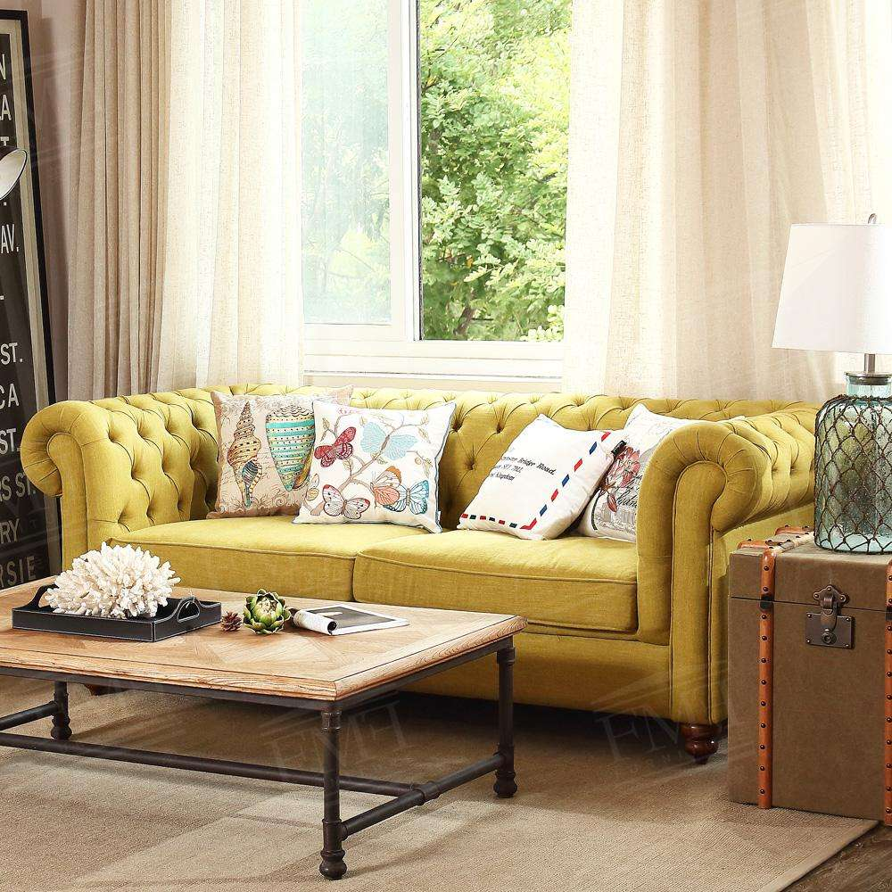 High Quality European Style Furniture Luxury Fabric Living Room Sofa Settee For Relax