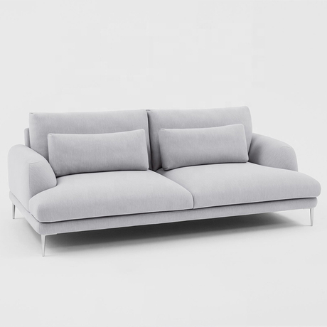 custom modern european Leisure style 2 seater fabric couch living room funiture sofa