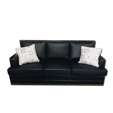 custom china modern hotel office luxury 3 seater black leather couches living room sofa set for sitting room