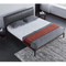 Microfiber simplicity King Size metal feet leather modern double bed Frame