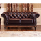 Office 3 2 seater brown European living room furniture sofa set of chesterfield leather sofa